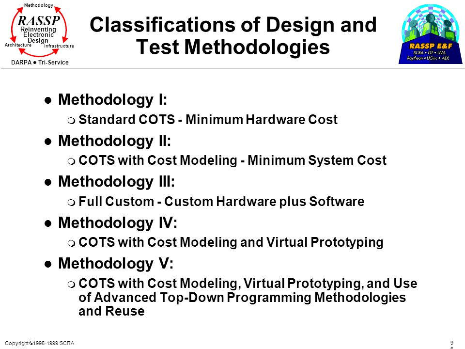 Classifications of Design and Test Methodologies