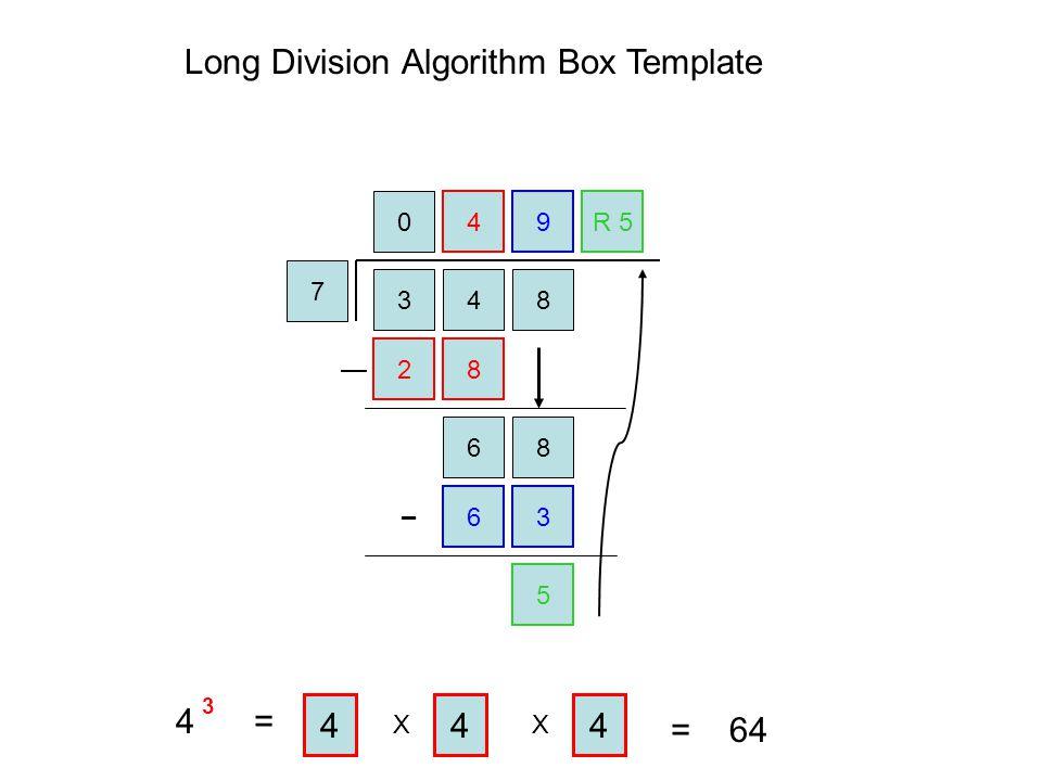 Long Division Algorithm Box Template