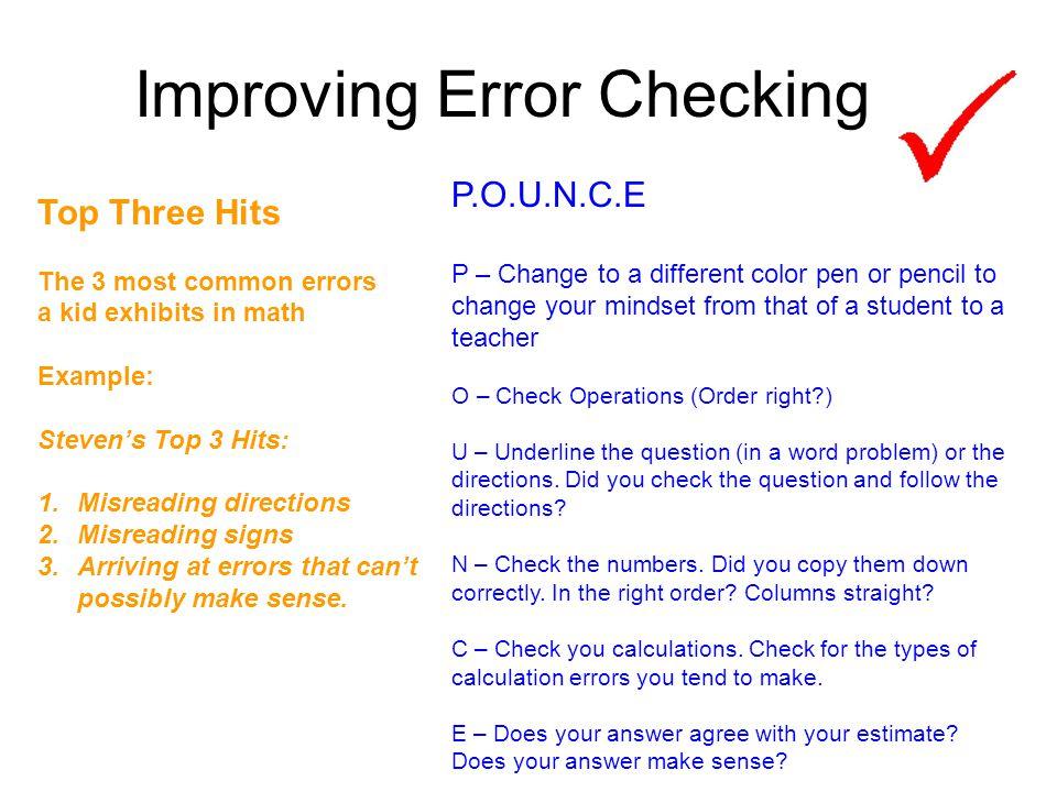 Improving Error Checking