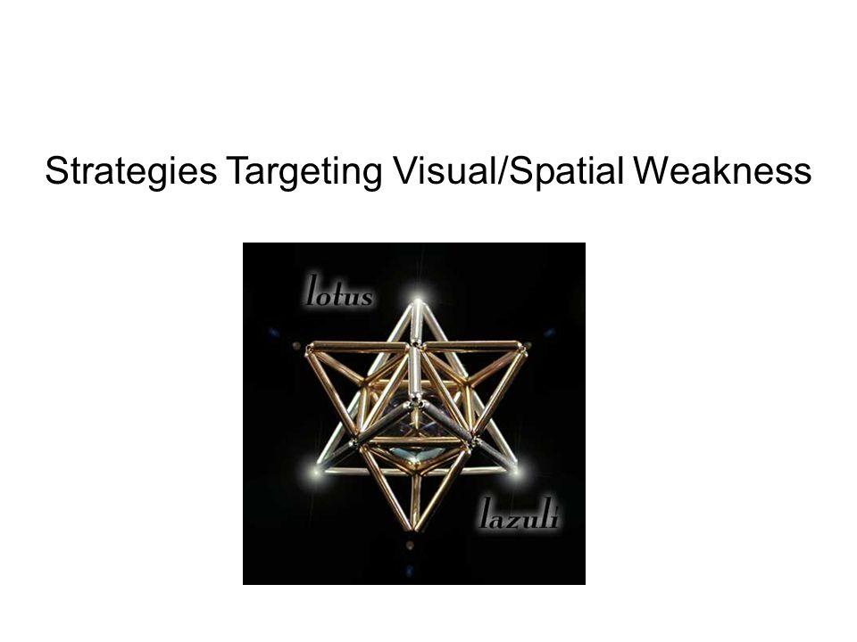 Strategies Targeting Visual/Spatial Weakness