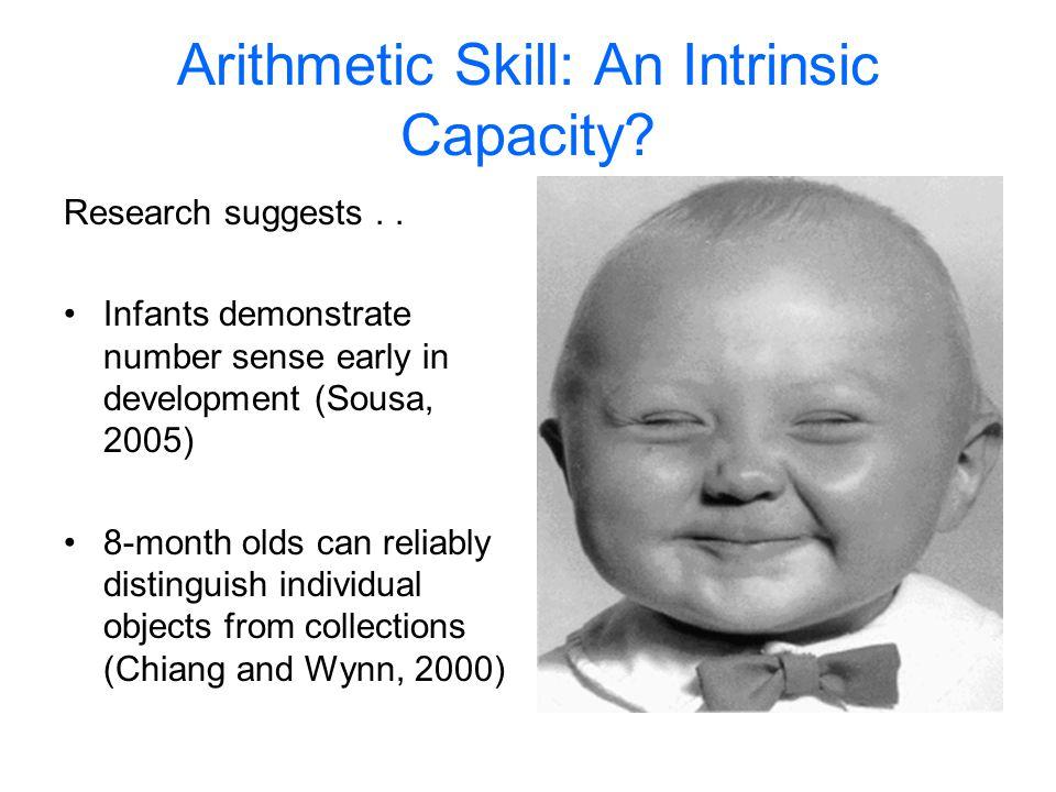 Arithmetic Skill: An Intrinsic Capacity