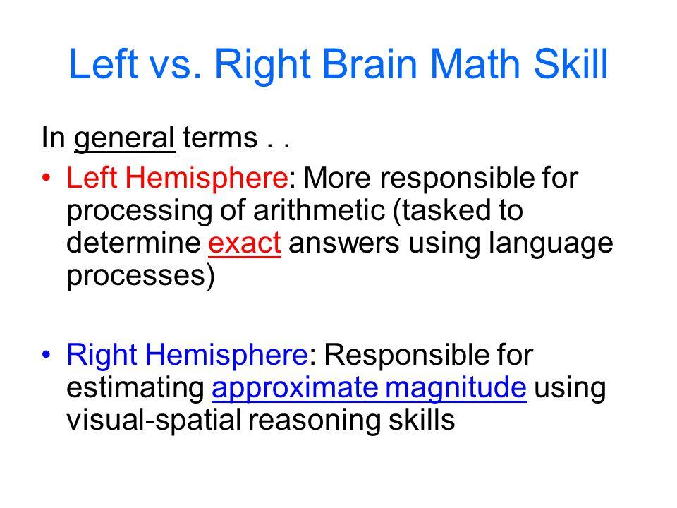 Left vs. Right Brain Math Skill