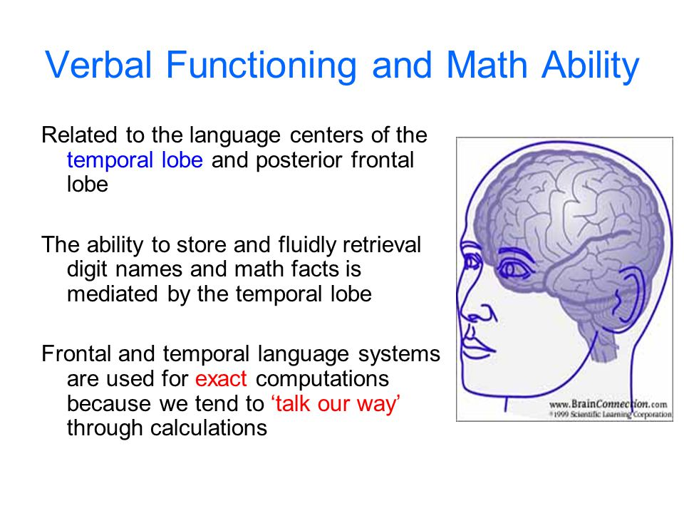 Verbal Functioning and Math Ability