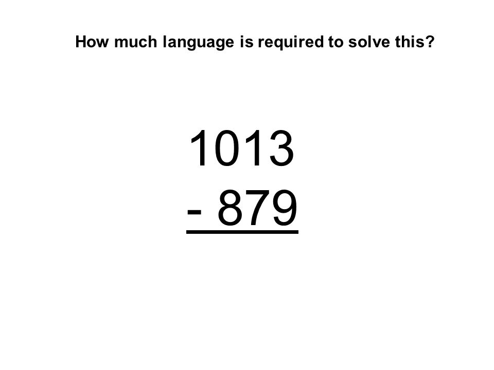 How much language is required to solve this