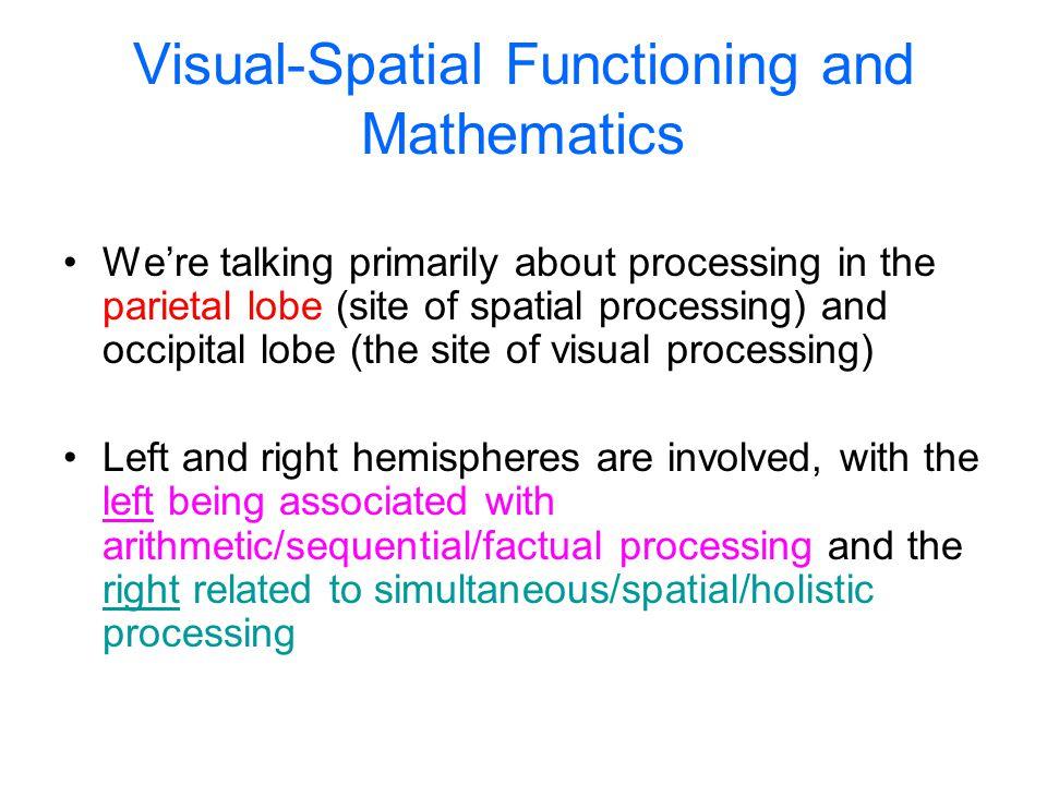 Visual-Spatial Functioning and Mathematics
