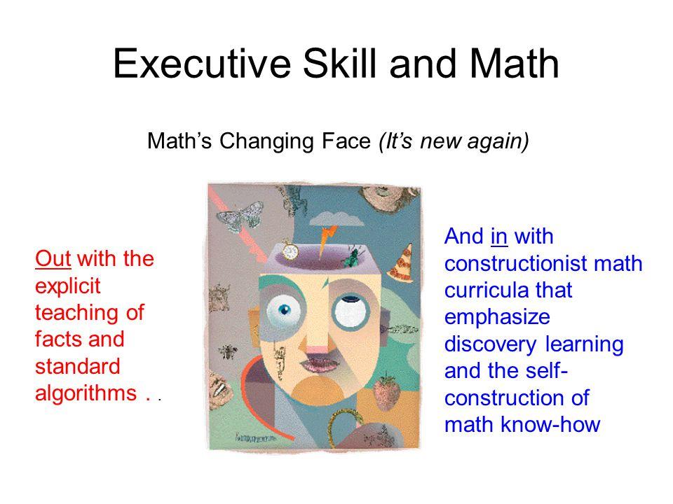 Executive Skill and Math