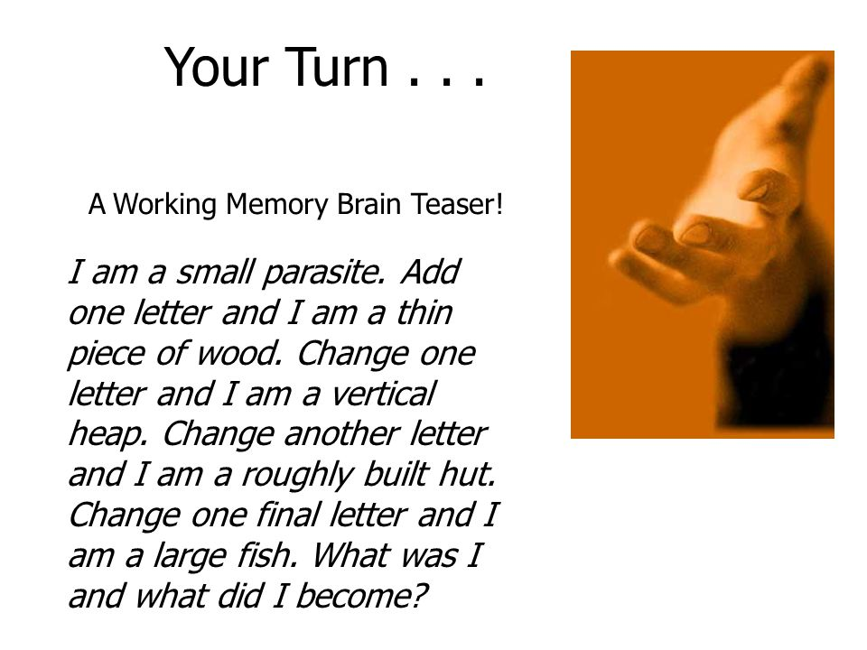A Working Memory Brain Teaser!