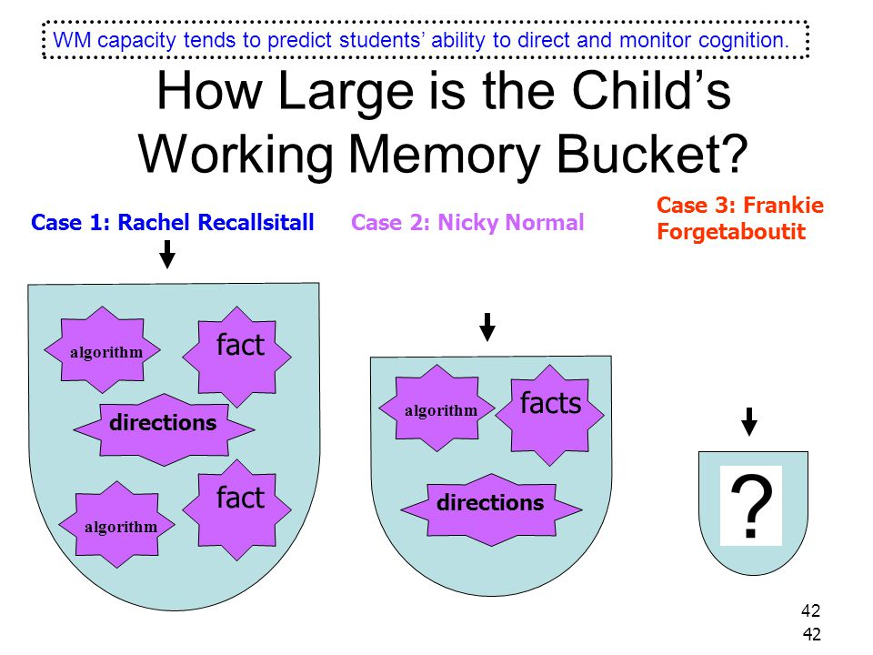 How Large is the Child's Working Memory Bucket