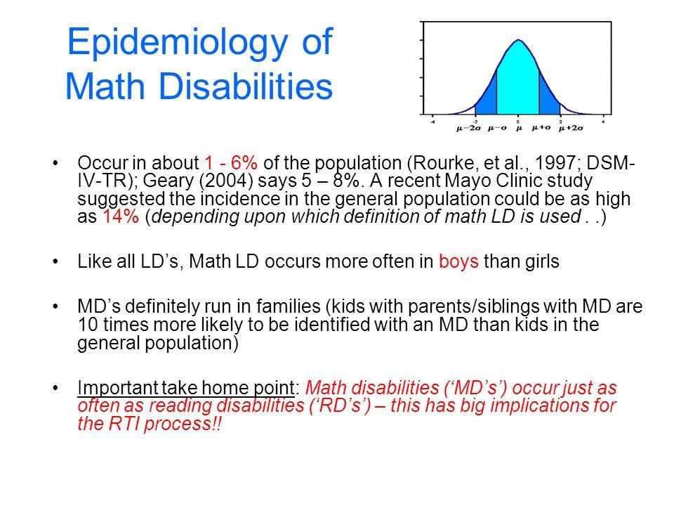 Epidemiology of Math Disabilities