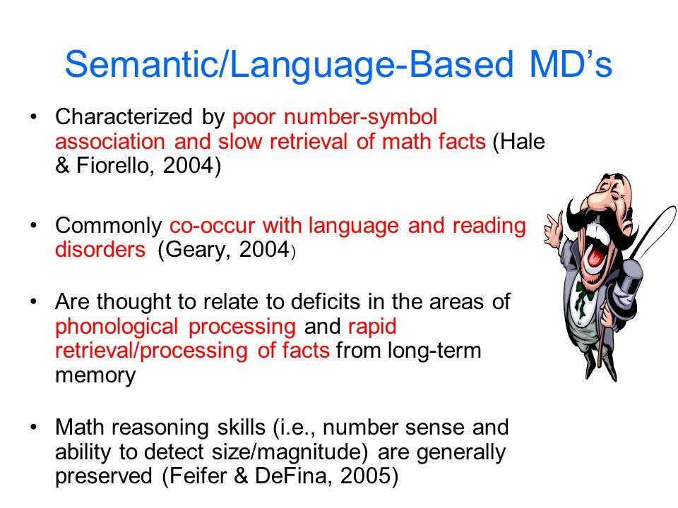 Semantic/Language-Based MD's