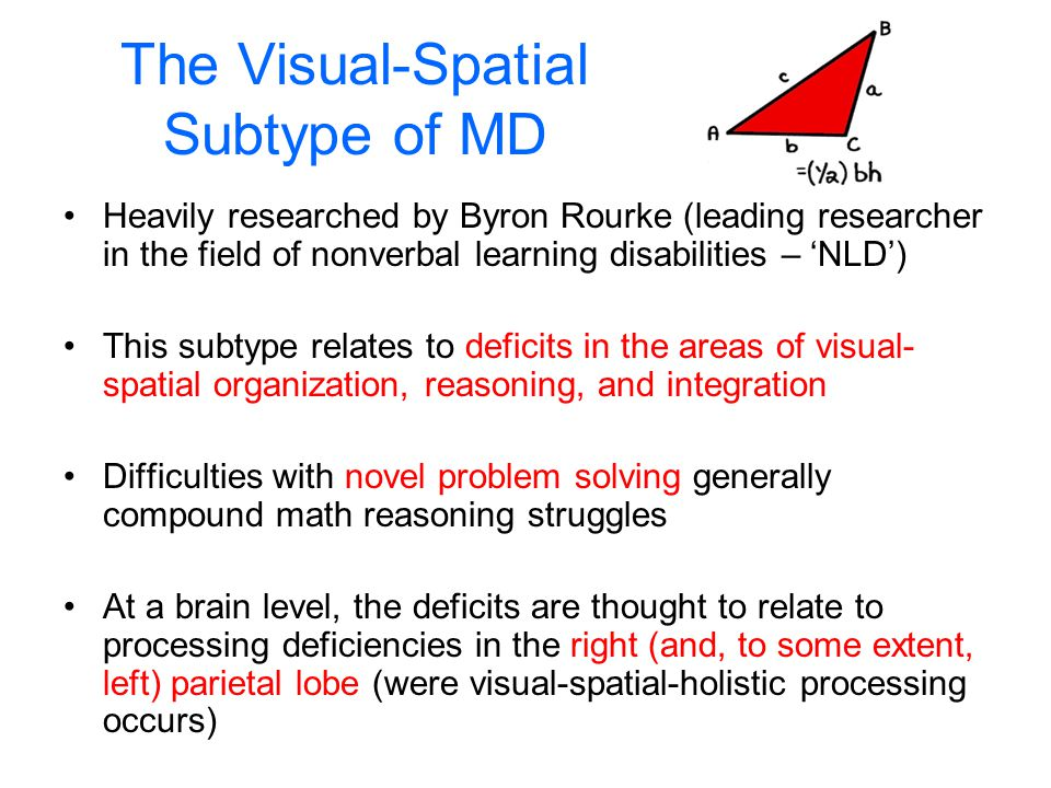 The Visual-Spatial Subtype of MD