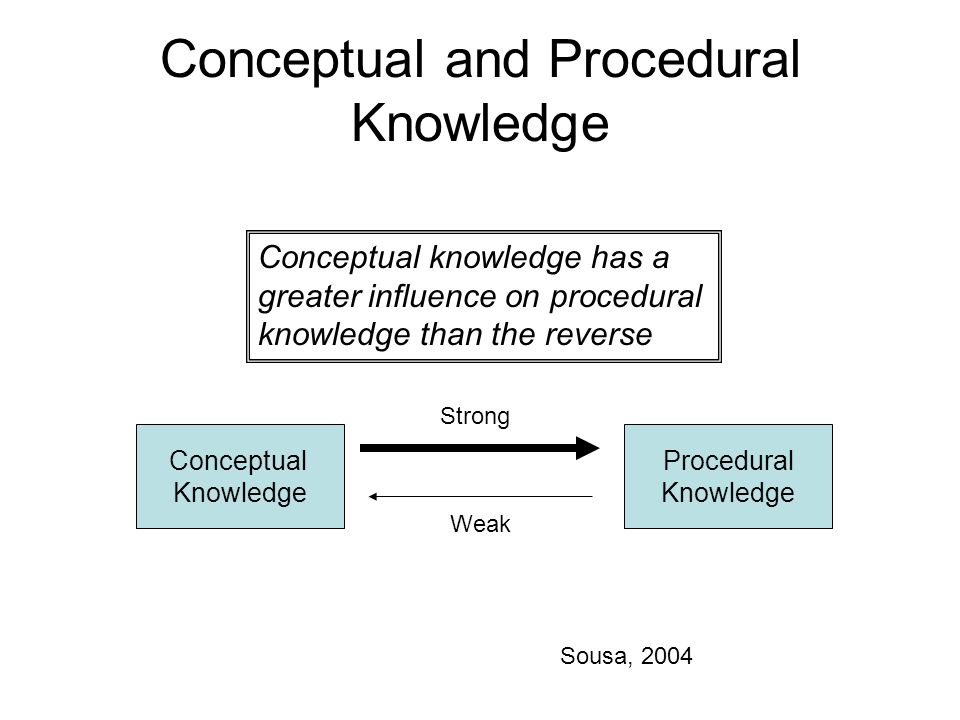 Conceptual and Procedural Knowledge