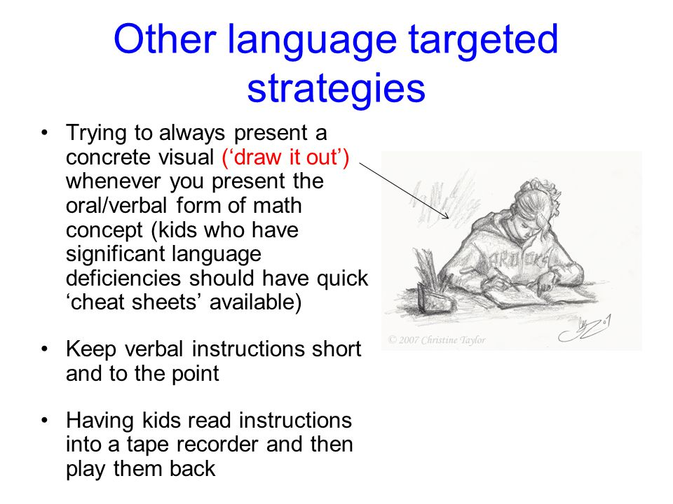 Other language targeted strategies