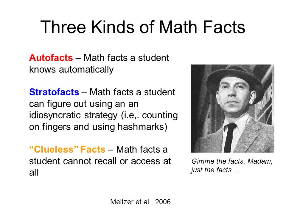 Three Kinds of Math Facts