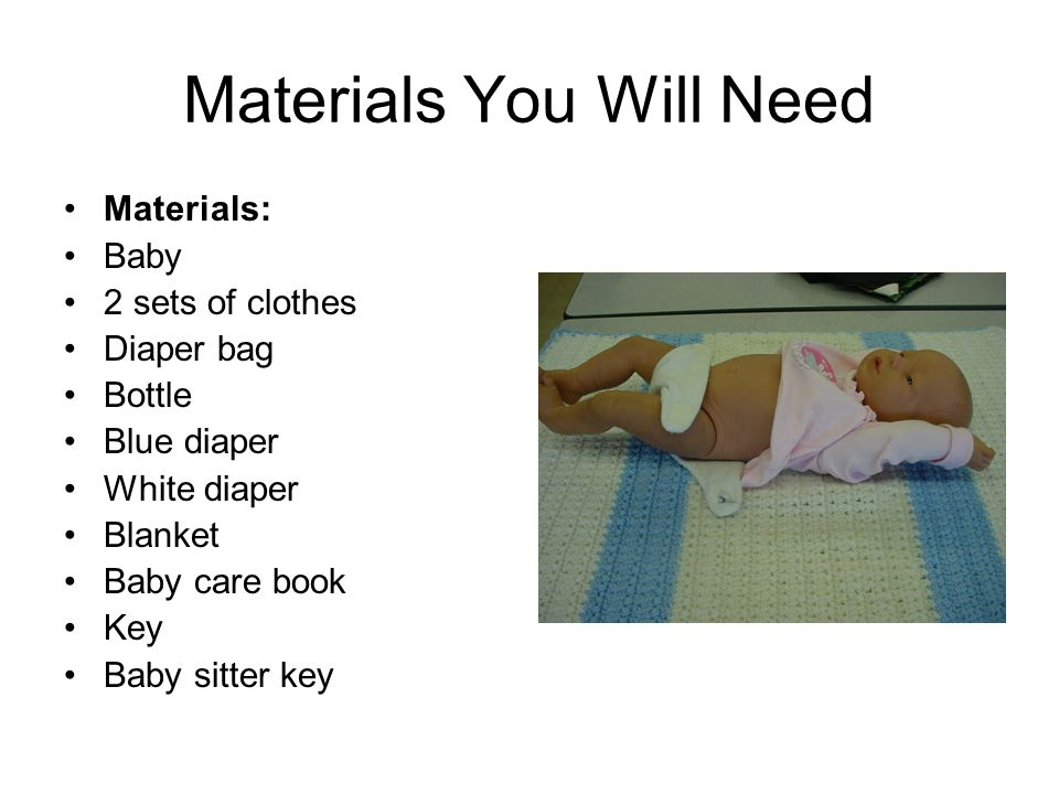 Materials You Will Need