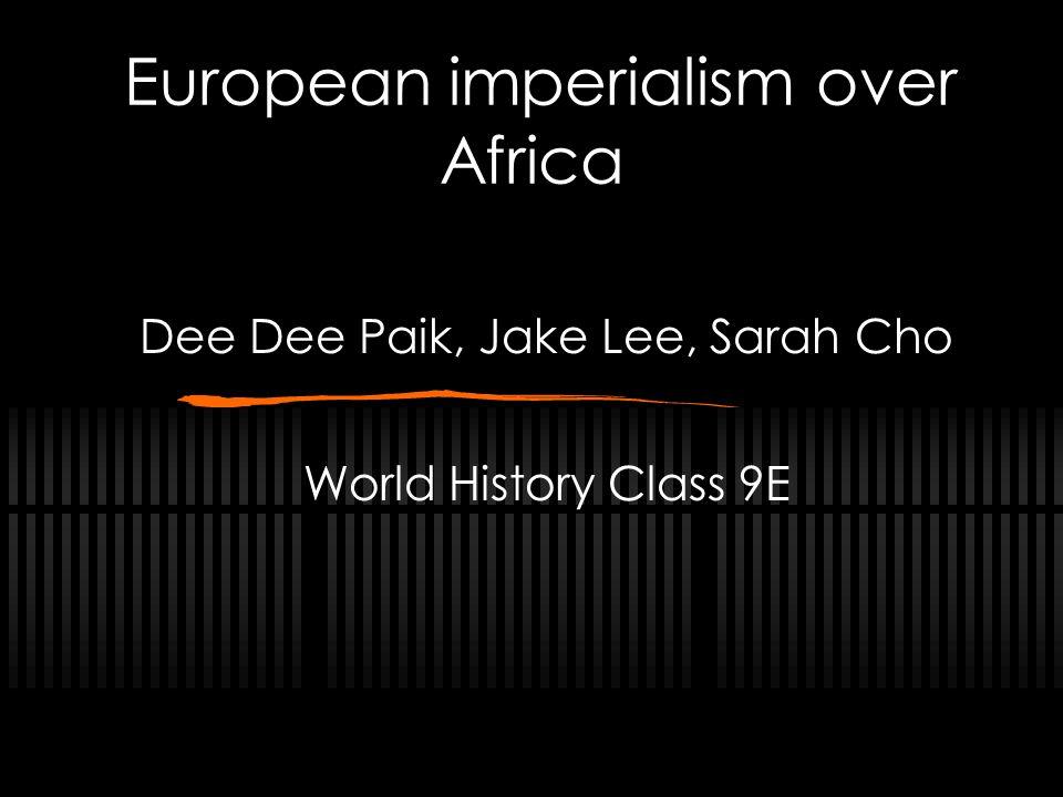 European imperialism over Africa