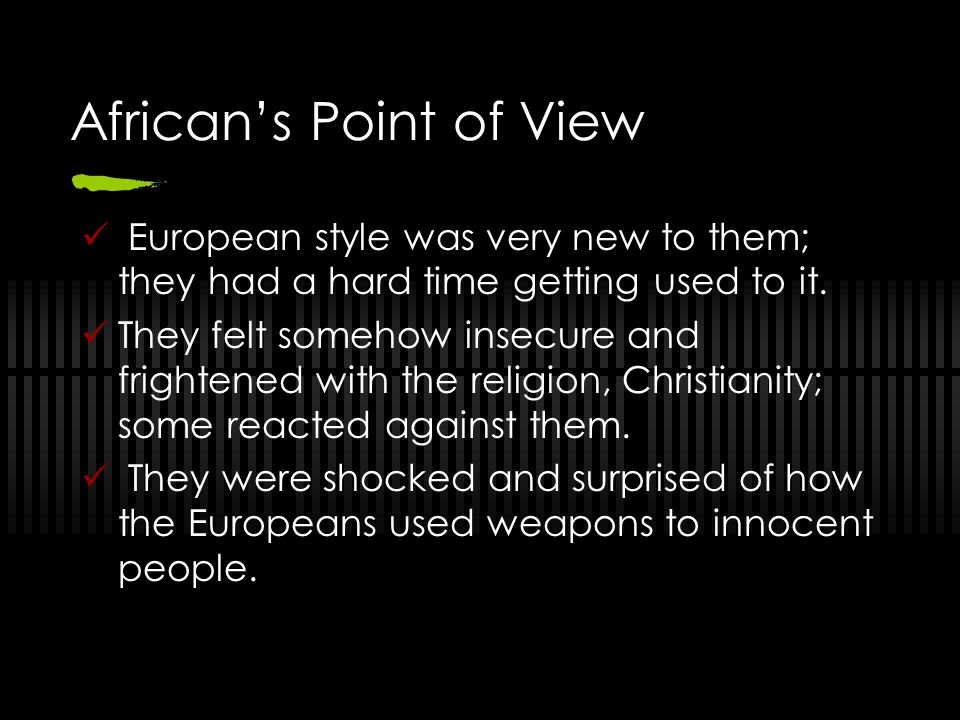 African's Point of View