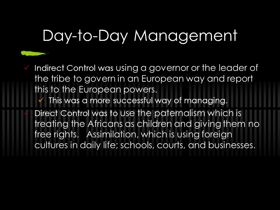 Day-to-Day Management