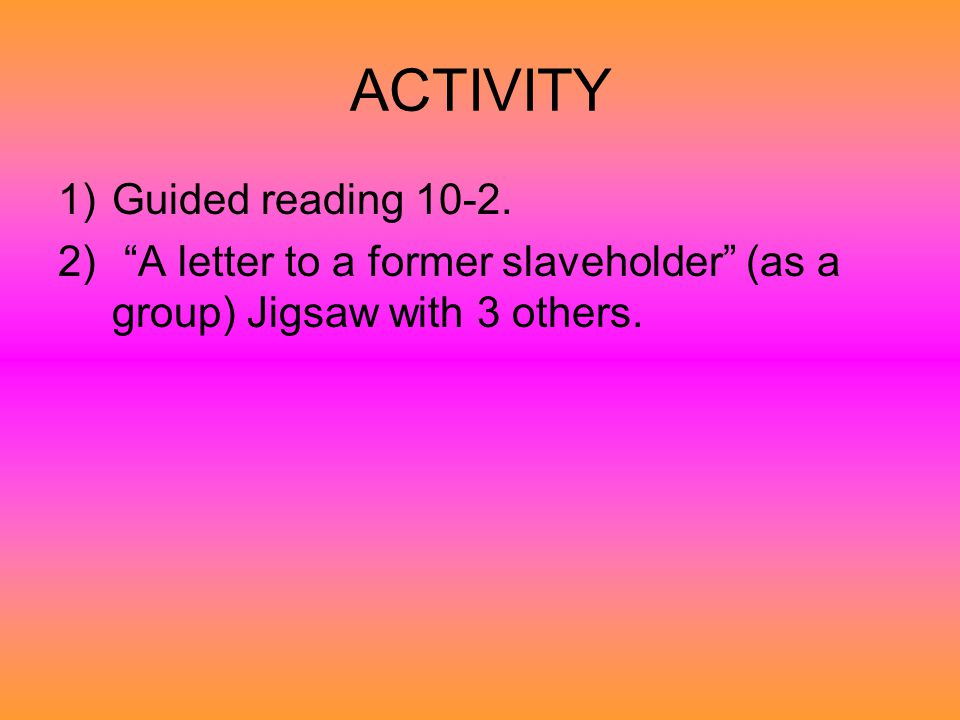 ACTIVITY Guided reading 10-2.