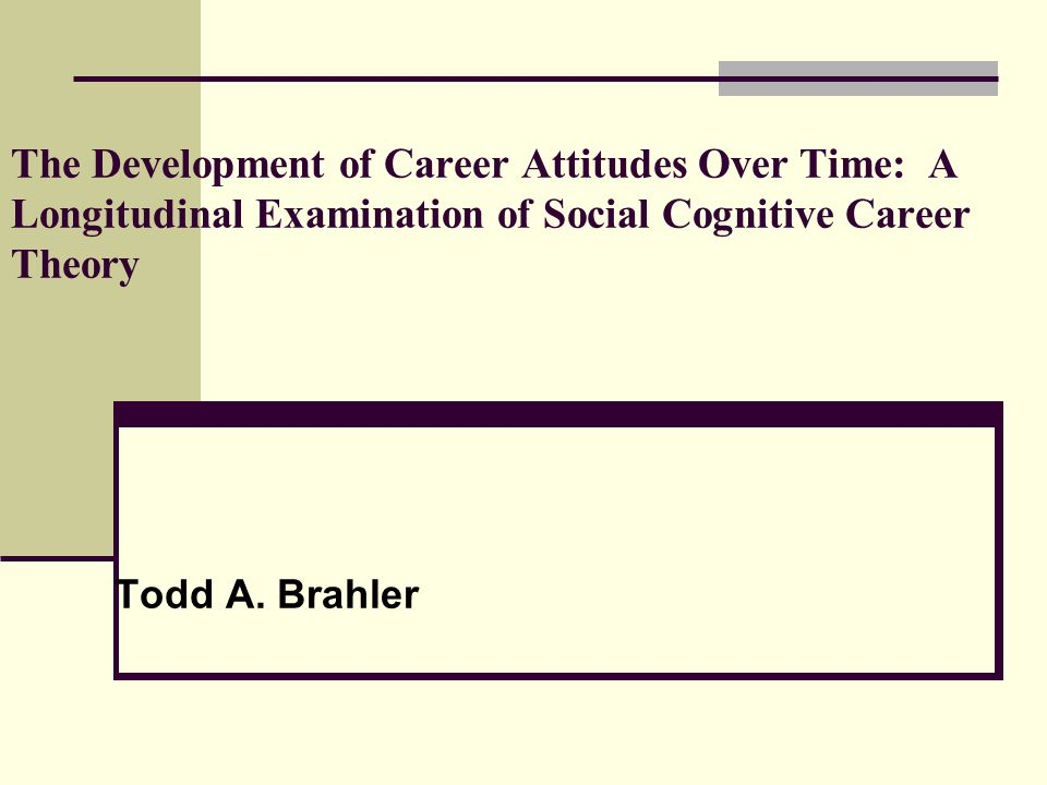 The Development of Career Attitudes Over Time: A Longitudinal Examination of Social Cognitive Career Theory