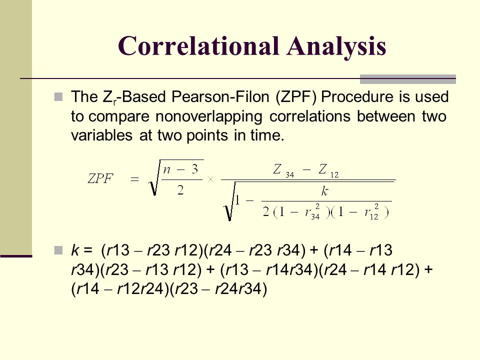 Correlational Analysis