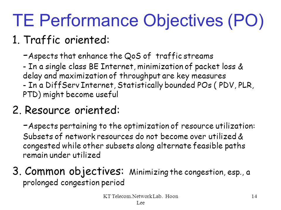 TE Performance Objectives (PO)