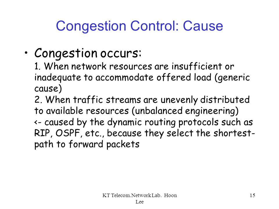 Congestion Control: Cause