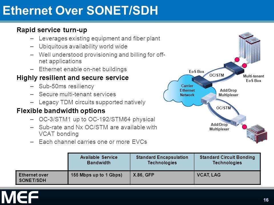 Ethernet Over SONET/SDH