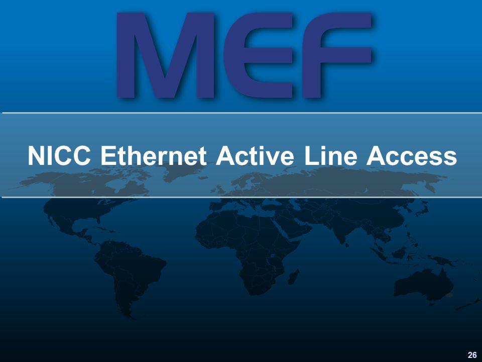 NICC Ethernet Active Line Access