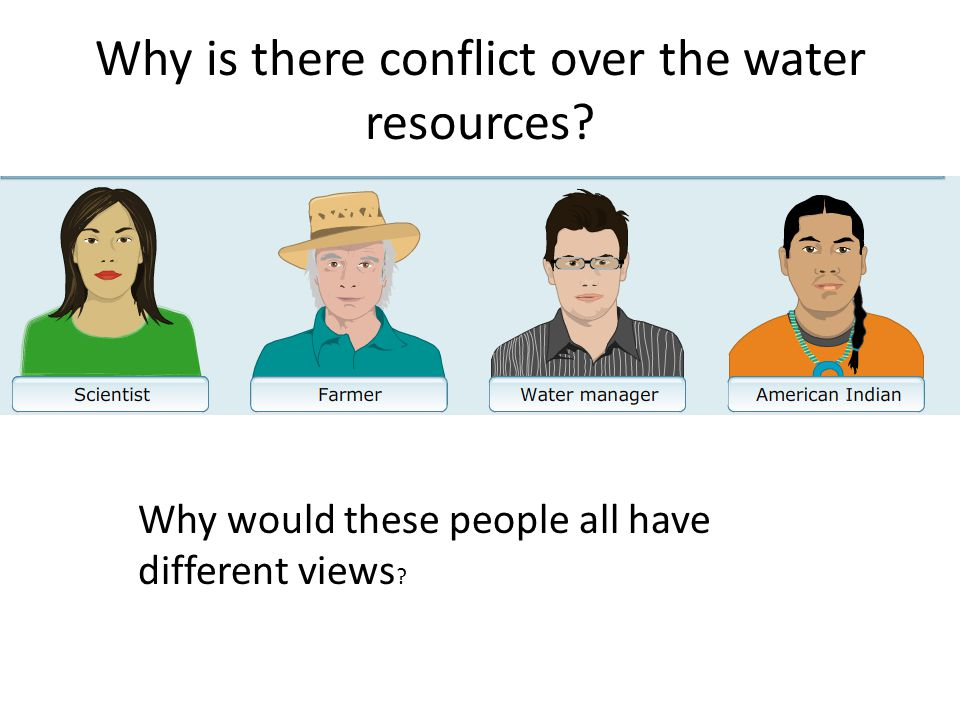Why is there conflict over the water resources