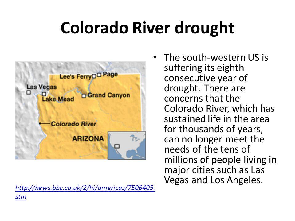 Colorado River drought