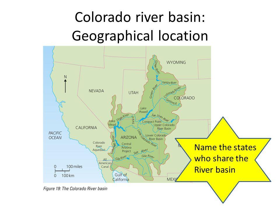 Colorado river basin: Geographical location