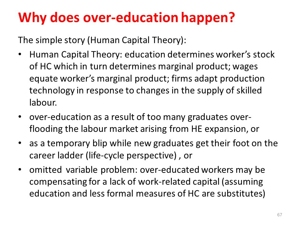 Why does over-education happen
