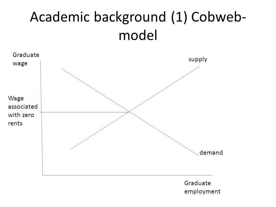 Academic background (1) Cobweb-model