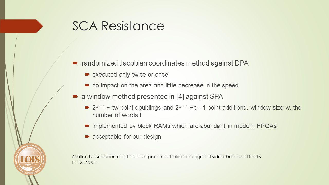 SCA Resistance randomized Jacobian coordinates method against DPA