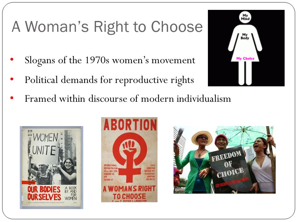 A Woman's Right to Choose