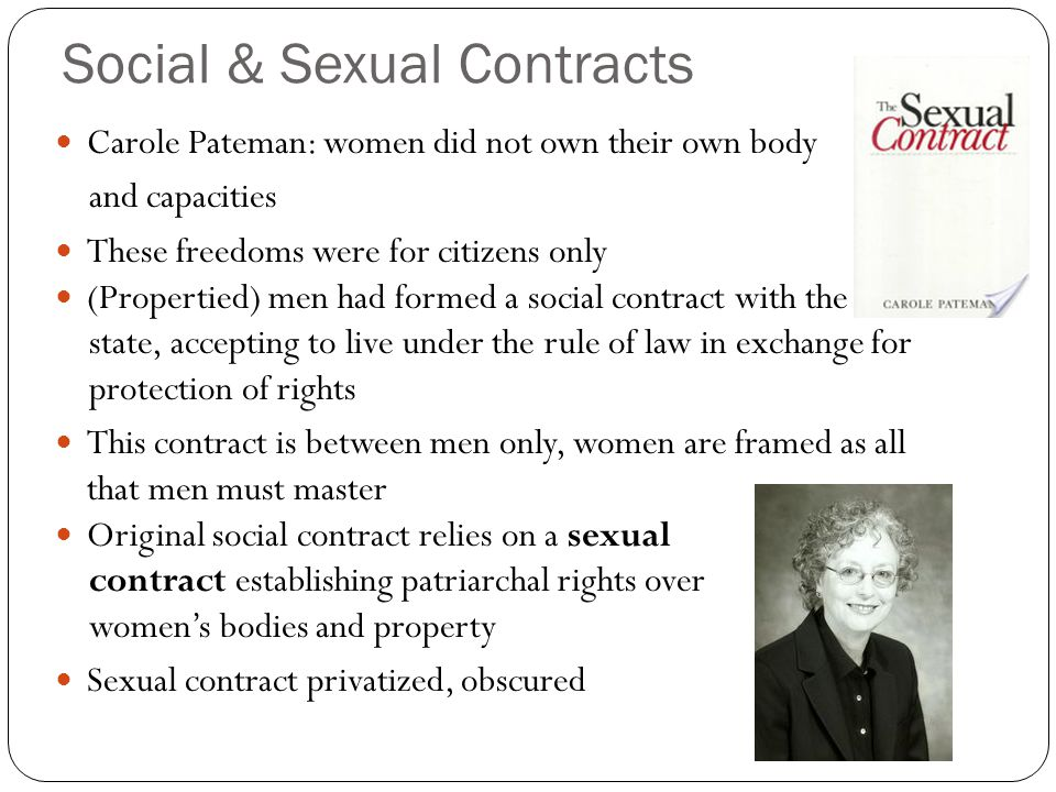 Social & Sexual Contracts