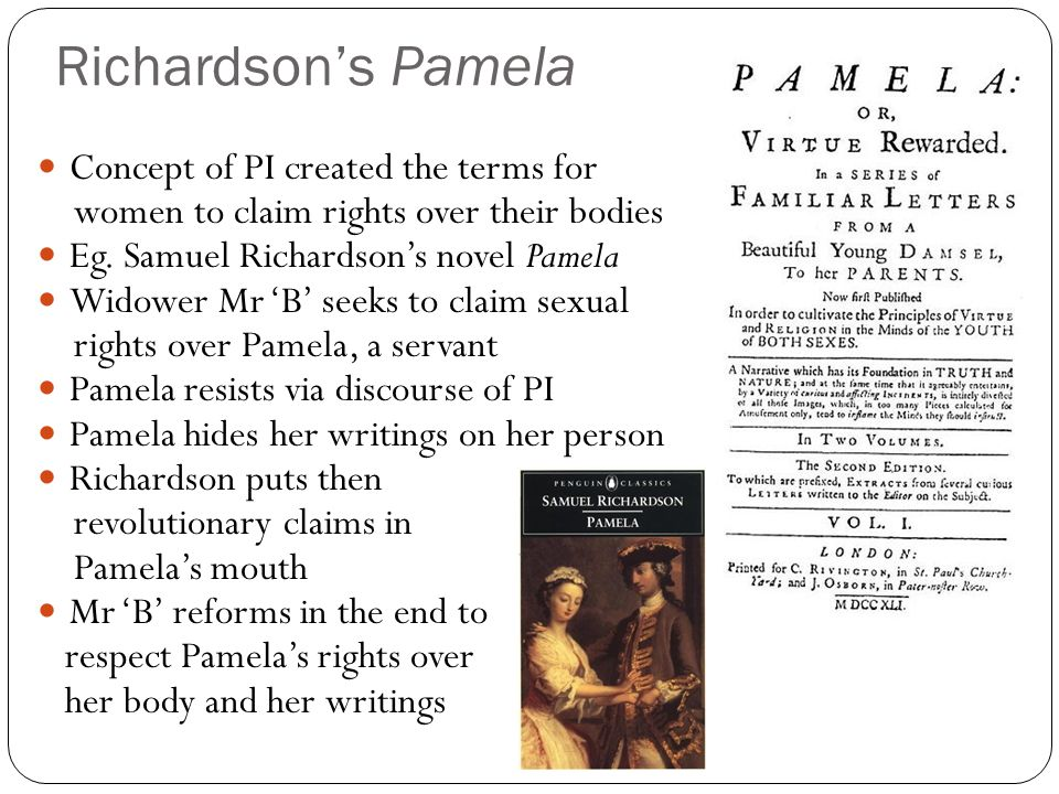 Richardson's Pamela Concept of PI created the terms for