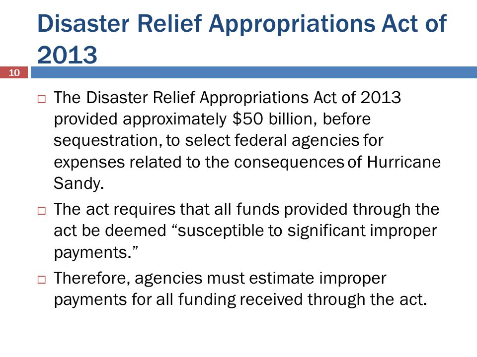 Disaster Relief Appropriations Act of 2013
