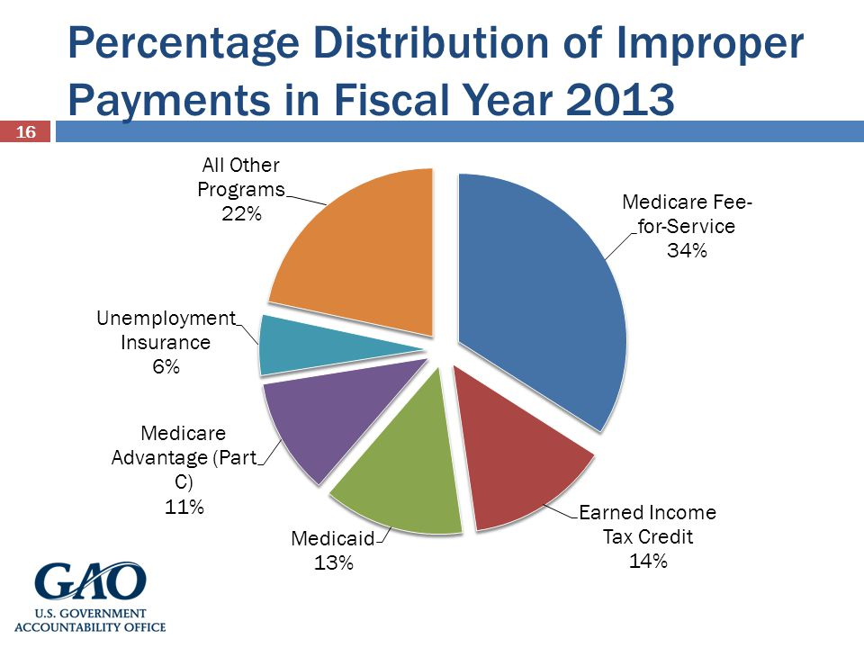 Percentage Distribution of Improper Payments in Fiscal Year 2013