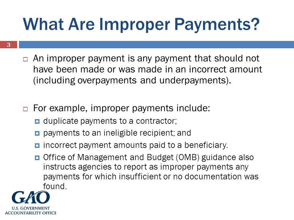 What Are Improper Payments