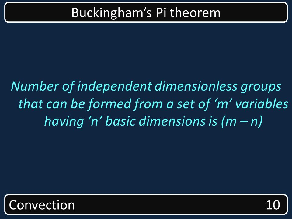 Buckingham's Pi theorem