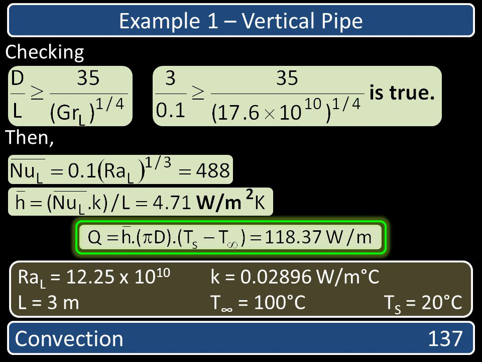 Example 1 – Vertical Pipe