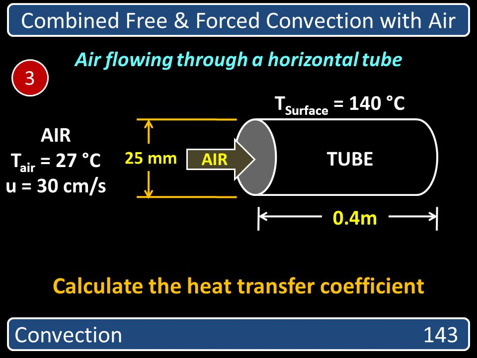 Calculate the heat transfer coefficient