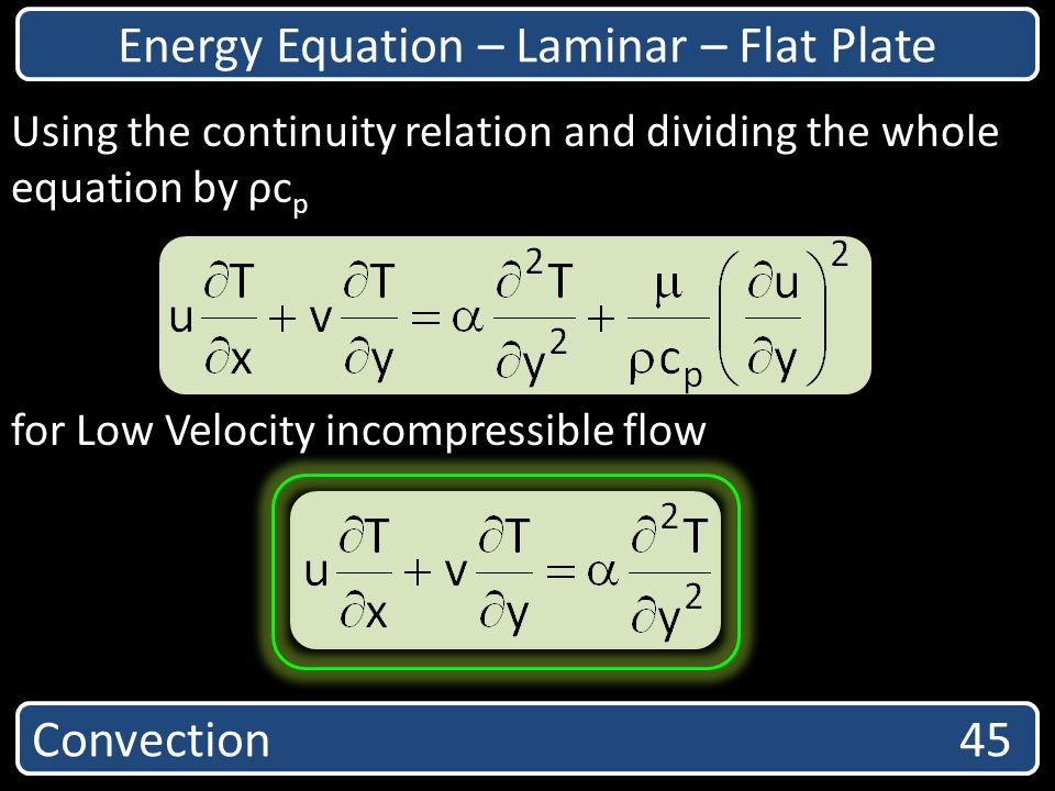 Energy Equation – Laminar – Flat Plate