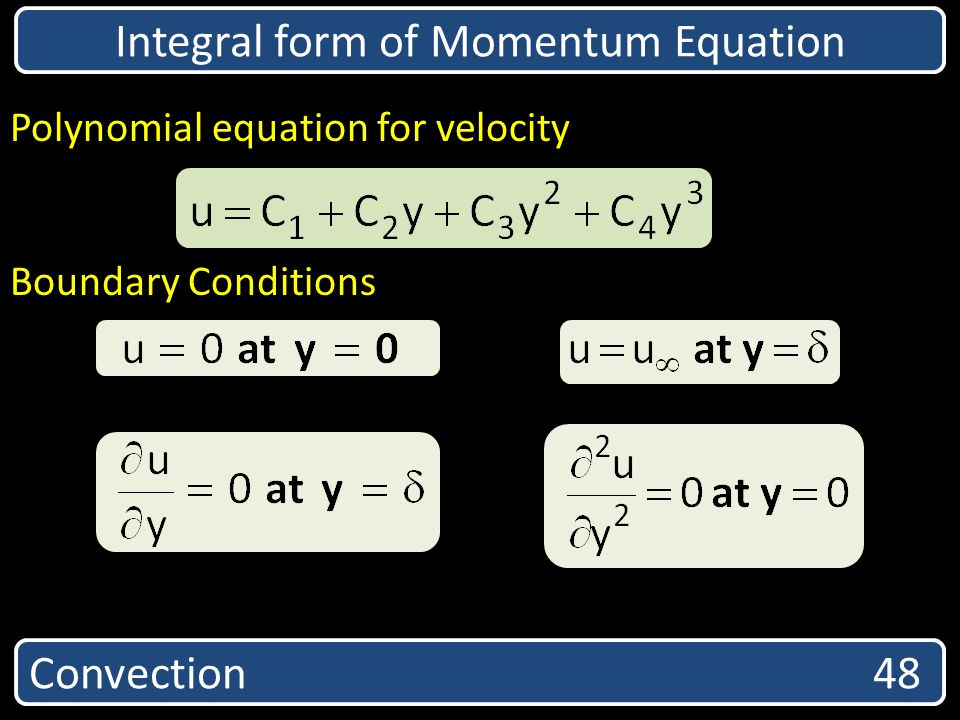 Integral form of Momentum Equation