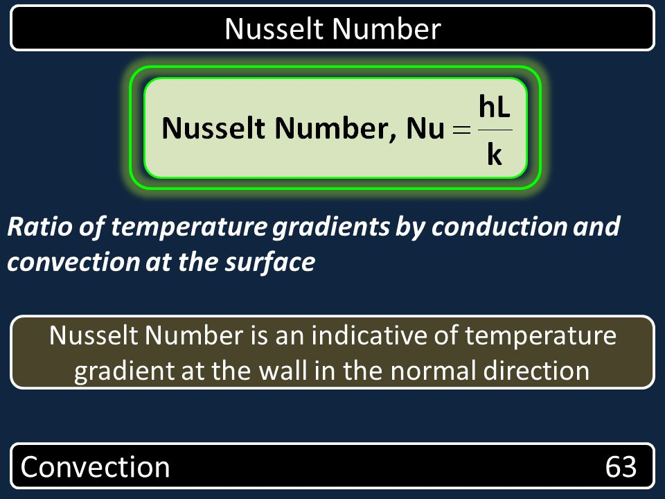 Nusselt Number Convection 63
