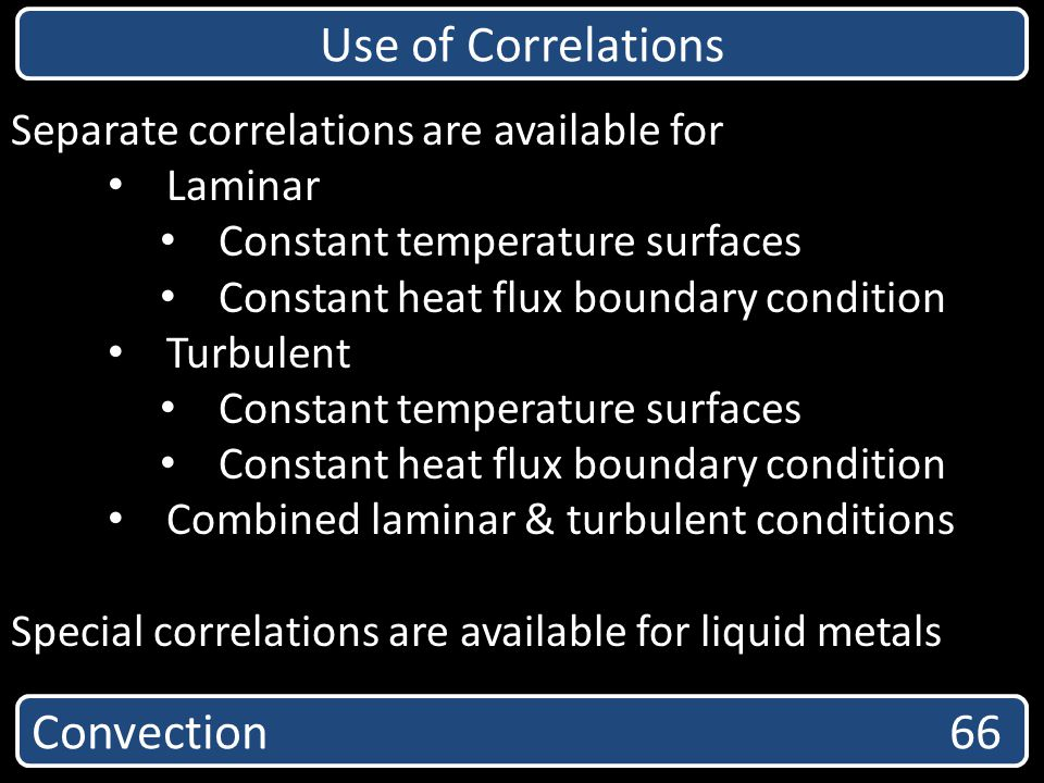 Use of Correlations Convection 66