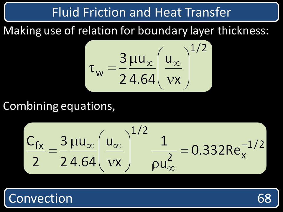 Fluid Friction and Heat Transfer