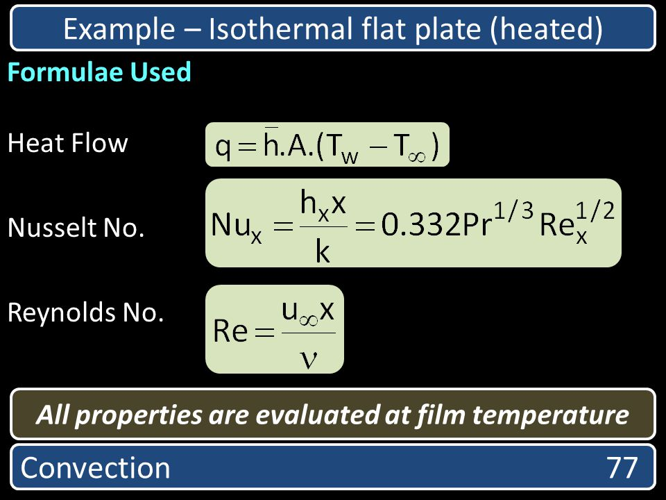 All properties are evaluated at film temperature